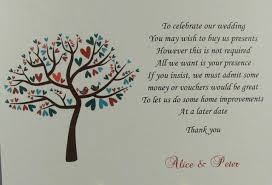 Wedding Inserts 50 Personalised White Wedding Inserts Honeymoon Money Gift Poem