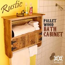 woodworking videos and plans make a rustic pallet wood bath