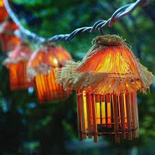 Tiki Patio Furniture by 24 Fantastic Outdoor Tiki String Lights Pixelmari Com