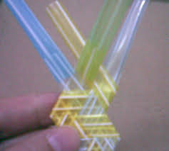 how to fold or weave bracelet from drinking straw 2 d i y