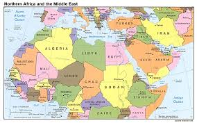 Map Of Benghazi Map Of Africa And Middle East Countries Africa Map