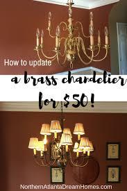 Chandelier Makeover Diy Brass Chandelier Makeover Georgia Coast Homes