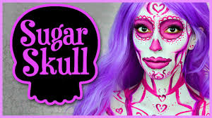 Colorful Halloween Makeup by Pink Sugar Skull Halloween Makeup Tutorial Youtube