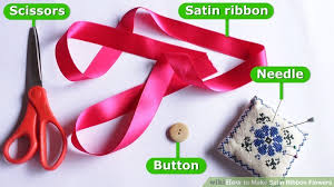 ribbon flowers 4 ways to make satin ribbon flowers wikihow