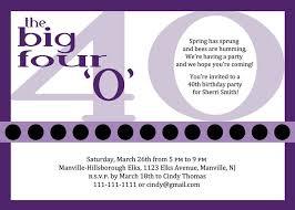 fortieth birthday invitation wording 40th birthday invitation
