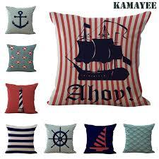 Decorative Pillows Modern Home Decorative Pillows Modern Sailing Ships Marine Printing