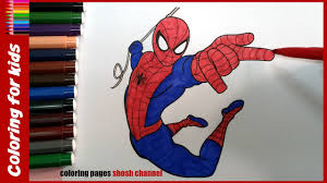 spiderman coloring pages spiderman colouring coloring pages