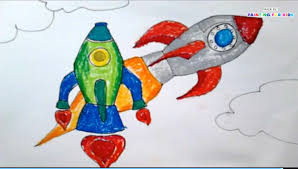 how to draw a rocket ship for kids painting for kids art for
