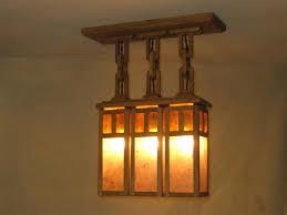 Arts And Crafts Ceiling Light 3 Shade Ceiling Light Adirondack Craftsman Lighting