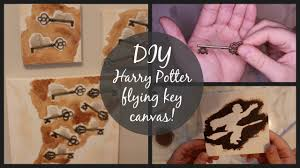 Harry Potter Decor by Diy Harry Potter Room Decor Flying Key Canvas Art Youtube