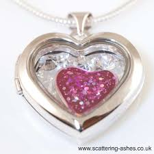 locket for ashes ashes locket silver memorial heart with glass swarovski
