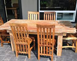 Fantastic Rustic Outdoor Table And Chairs Reclaimed Teak Dining - Reclaimed teak dining table and chairs