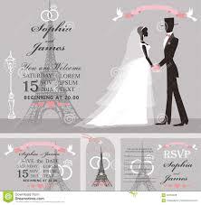 eiffel tower wedding invitations wedding invitation set retro bridegroomeiffel tower stock v with