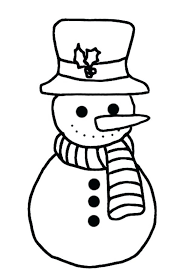 winter solstice coloring pages free simple snowman kids scene