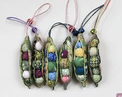 peas in a pod ornament fabric peapod charm peas in a pod ornament