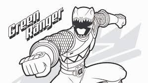green power ranger coloring pages coloring
