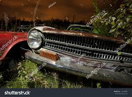 lexus junkyard orlando old abandoned car junkyard night light stock photo 113146885