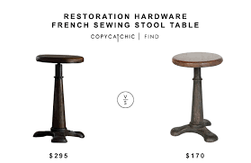 Restoration Hardware Bar Table Restoration Hardware French Sewing Stool Table Copycatchic
