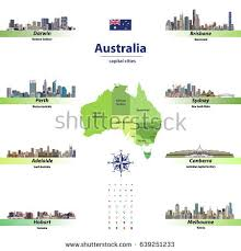 australia map capital cities capital australia stock images royalty free images vectors