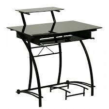 bureau noir verre bureau verre noir se meubler on line