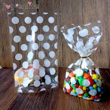 cookie party supplies enlife 100pcs white transparent polka dot cookie bag gift
