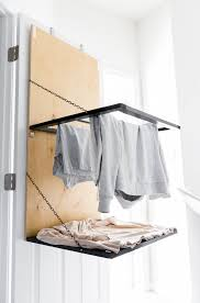 wall mounted drying rack for laundry tiny laundry nook update 4 pull down door mounted drying rack