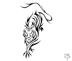 tribal tiger drawing clipartxtras