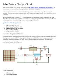 Solar Light Charging Circuit Solar Battery Charger Circuit Battery Charger Battery
