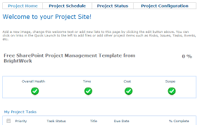 how to use the free sharepoint project management template