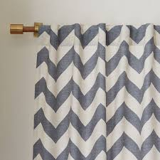 Gray Chevron Shower Curtain Cotton Canvas Zigzag Curtain Feather Gray West Elm