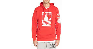 adidas originals u0027street graphic u0027 hoodie in red for men lyst