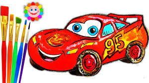 coloring for childrens mcqueen car how to draw disney cars