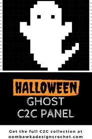 halloween ghost c2c crochet panel halloween ghosts crochet and