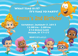 bubble guppies invitation template template examples