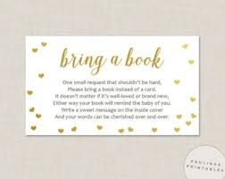 instead of a card bring a book winnie the pooh baby shower book insert bring a book card