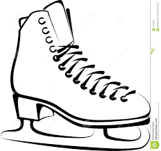 ice skate outline free coloring pages on art coloring pages