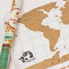 World Scratch Map by Scratch Map Natura