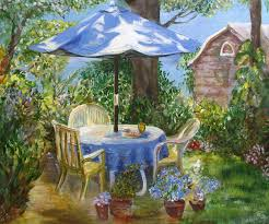 miscellaneous garden backyard chairs trees pots table bushes shed