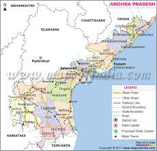 andhra pradesh travel districts and city information map