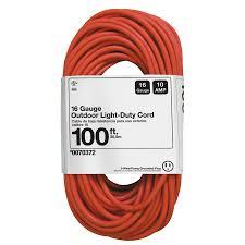 shop basic connections 100 ft 10 amp 1 outlet 16 gauge orange