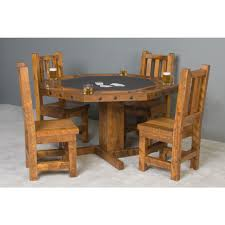 convertible poker u0026 dining table by viking log furniture