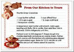 christmas buttercrisp cookies recipe card cq christmas sweets