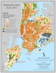 New York City Zip Code Map by Neighborhood Walkability Built Environment And Health Research Group