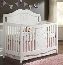 Wood Convertible Cribs Storkcraft 04587 151 Princess Fixed Side Convertible Crib In White