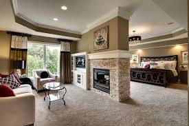 in suite designs rise and shine master suite with sitting room and 2 sided fireplace