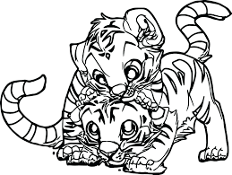 coloring page tigers tiger cub coloring pages printable book cute animal free arilitv