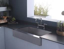 Graff Kitchen Faucets Interior Design Elegant Apron Sink With Graff Faucets And Corian