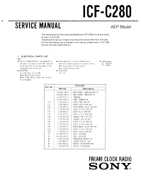 sony icf c280 service manual immediate download