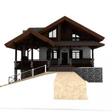 chalet house european chalet houses 4 in 1 collection 3d model cgstudio
