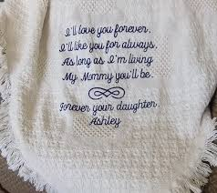 personalized wedding blankets personalized wedding blanket for of the embroidered